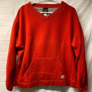 Red Champion V-neck Sweater